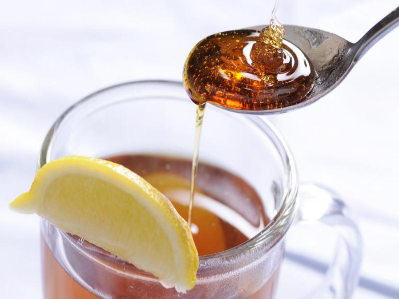te con miel para la tos