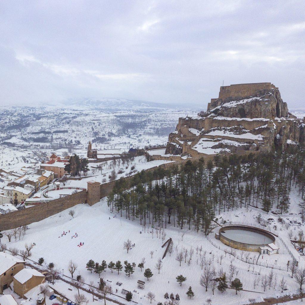 Esta es la espectacular imagen de Morella cuando nieva.