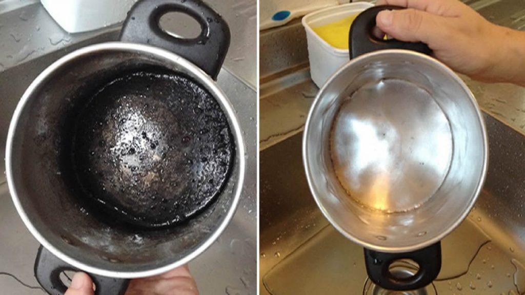 otros método para limpiar ollas quemadas