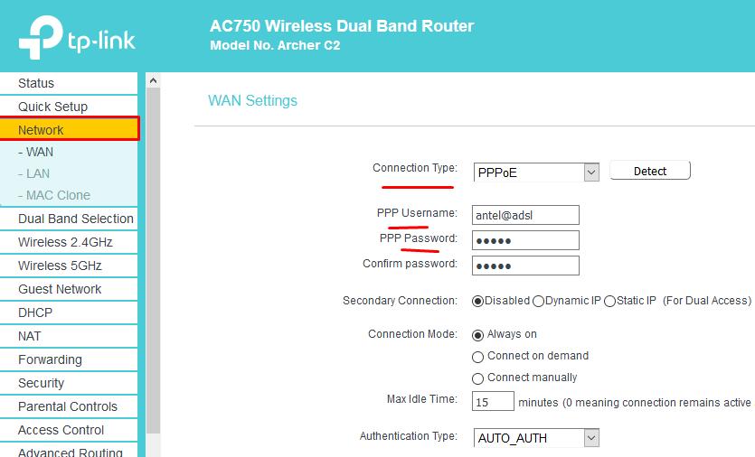 cambio del nombre y contraseña del wifi