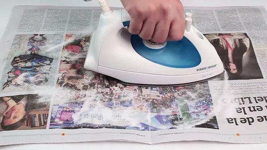papel periódico para limpiar la plancha