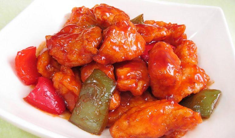 Cómo hacer la receta original de pollo agridulce chino