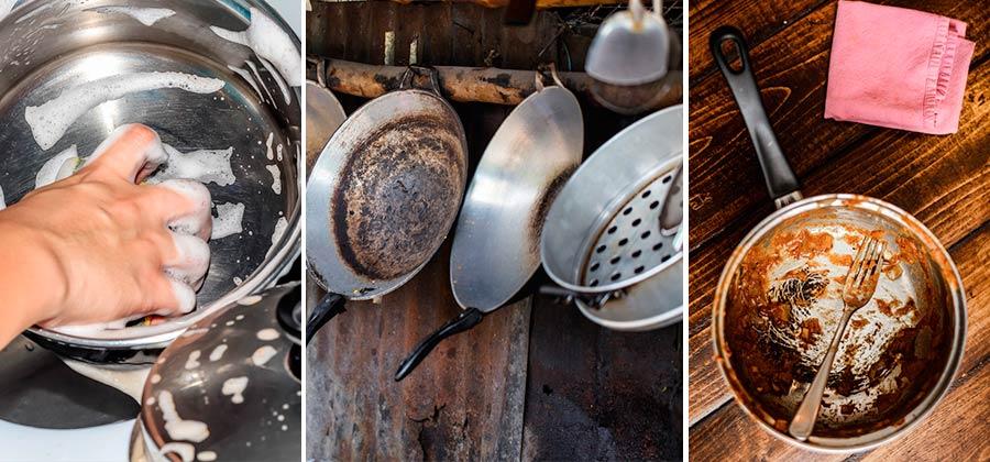importancia de eliminar la grasa de la olla