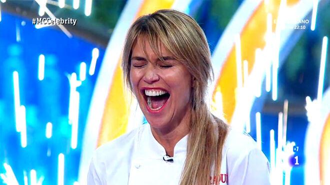 Raquel Meroño, en el momento de vencer el concurso.