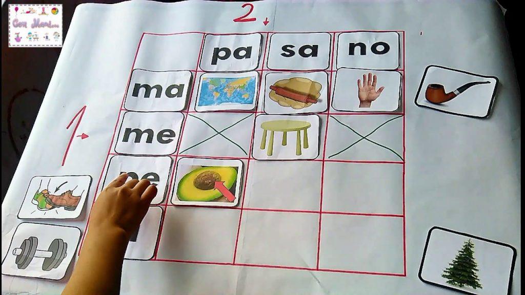Algunos ejemplos de sílabas