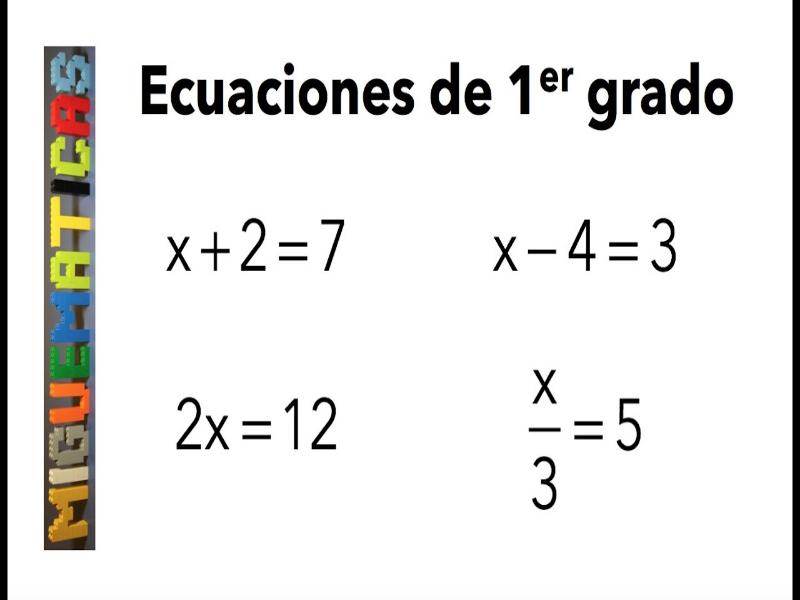 tipos de ecuacion