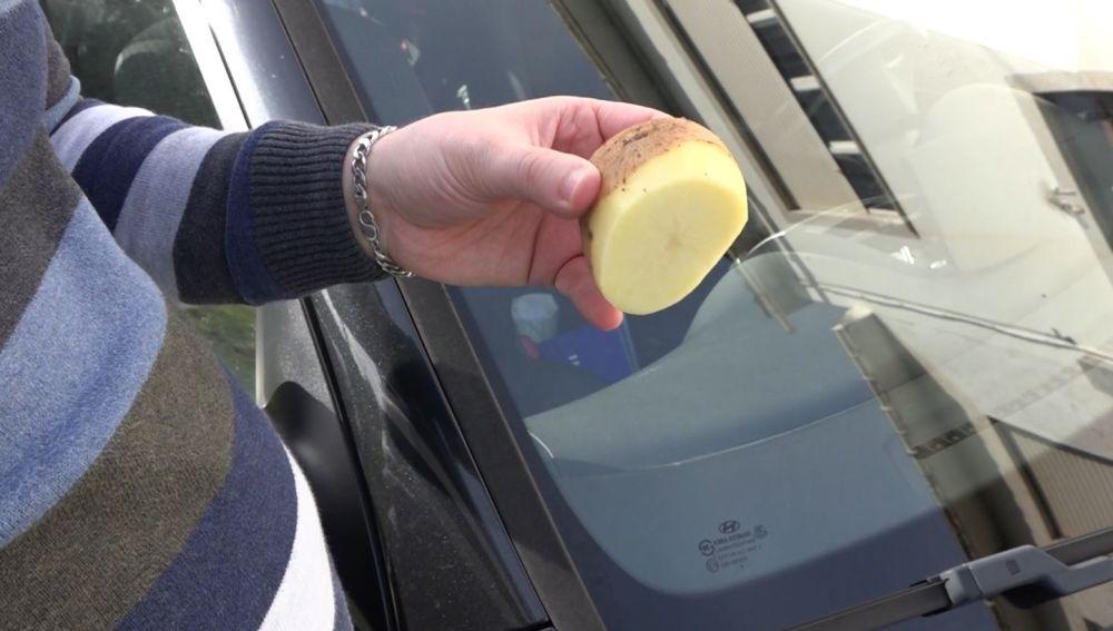 uso de la papa en el coche