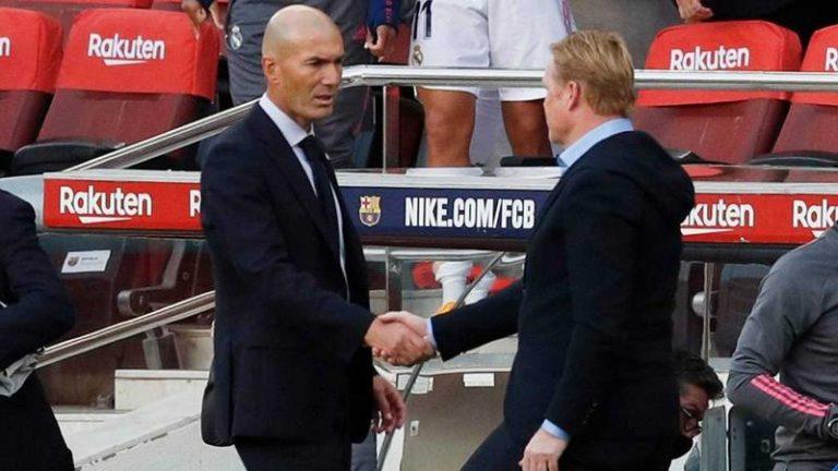 La tensión entre Zidane y Koeman aumenta: el blanco, impaciente