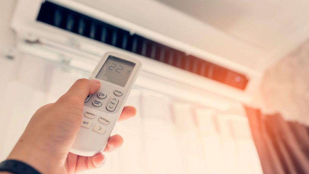 Configurar el aire acondicionado en calor