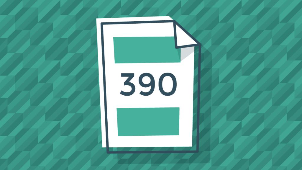 ¿Cuál es el período de tiempo otorgado para presentar el modelo 390?