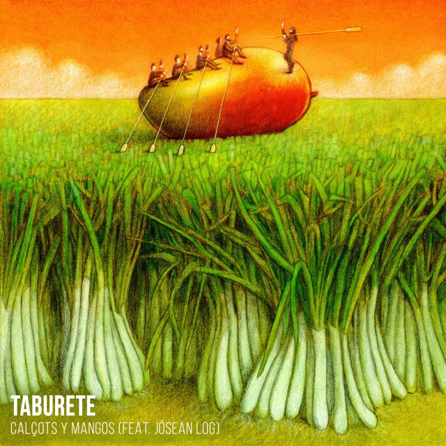 Taburete Jósean Log Calçots Mangos