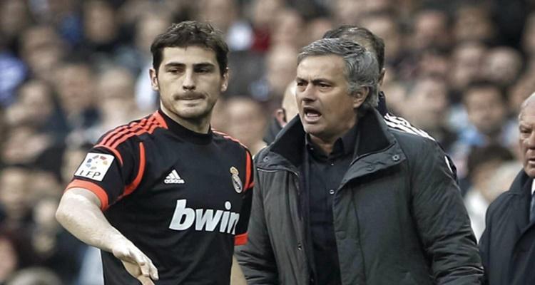 Casillas y José Mourinho