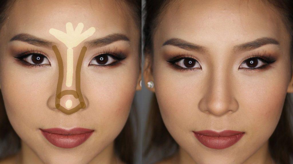 disminuir el tamaño de nariz con maquillaje