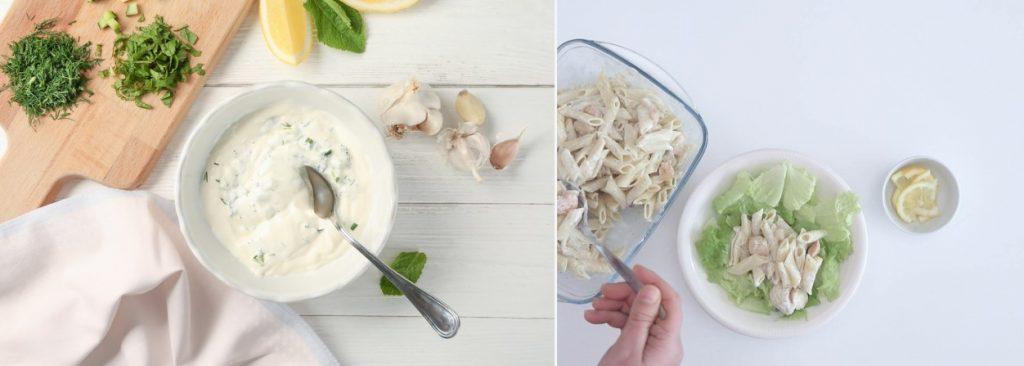 Elaboración de la pasta para esta ensalada y presentación final
