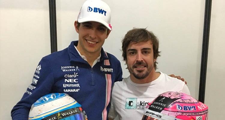 Esteban Ocon Fernando Alonso Carlos Sainz
