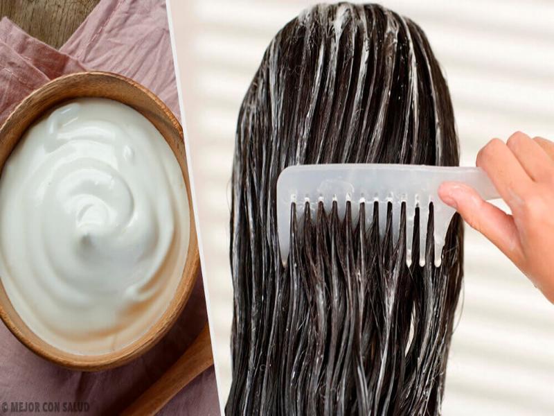 crema hidratante de mayonesa para el pelo