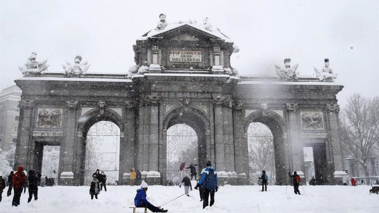 Las fotos más espectaculares de la nevada en Madrid