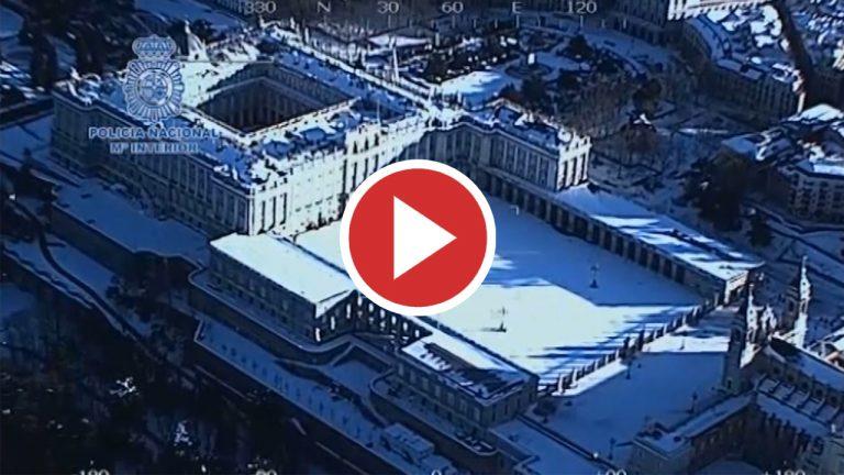 Vista aérea de Madrid tras el paso de 'Filomena'