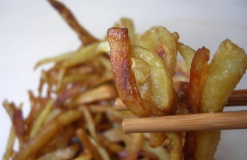 Procedimiento para las patatas fritas chinas