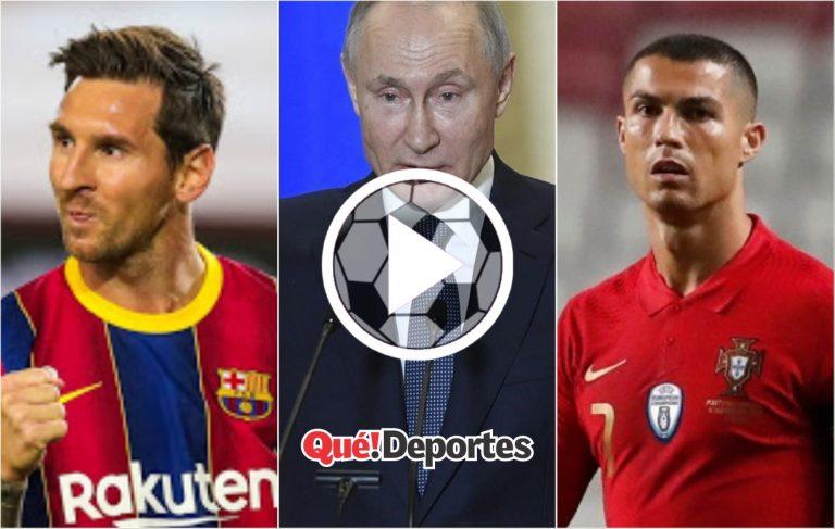 Tiemblan Messi y Ronaldo ¡Llegó Putín!