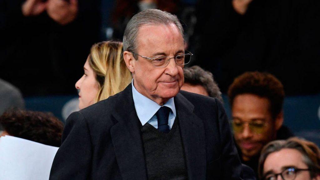Real Madrid Florentino Pérez jugadores espalda