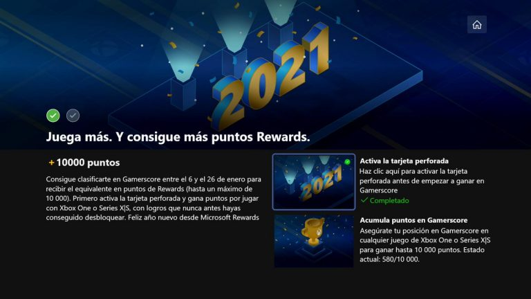 Cómo conseguir 10.000 puntos de Microsoft Rewards jugando a la Xbox