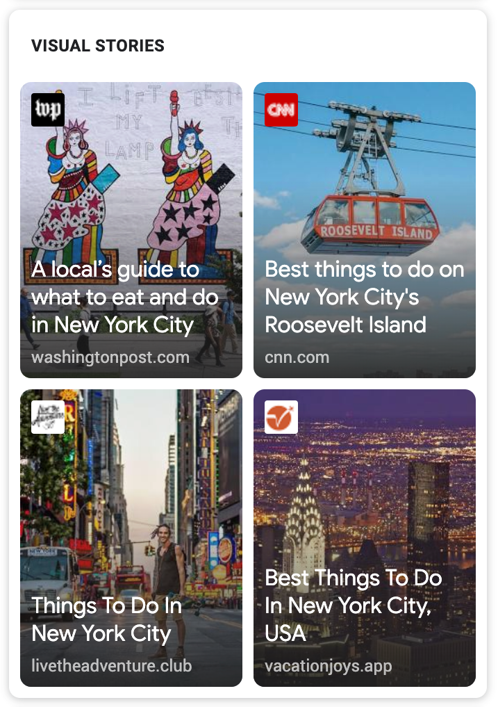 Google Web Stories incluirá Instagram y TikTok