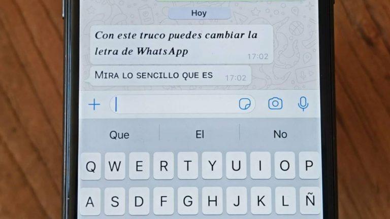 WhatsApp: este es el truco para cambiar el estilo de letra