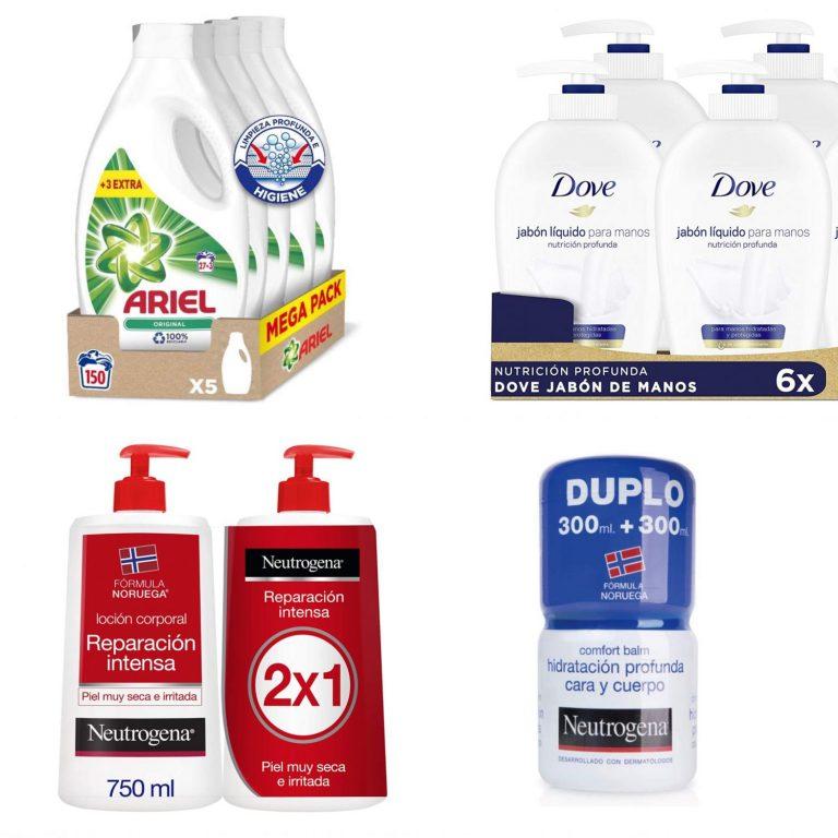 Ariel, Dove y Neutrogena : packs de ahorro en higiene y cuidado personal en Amazon