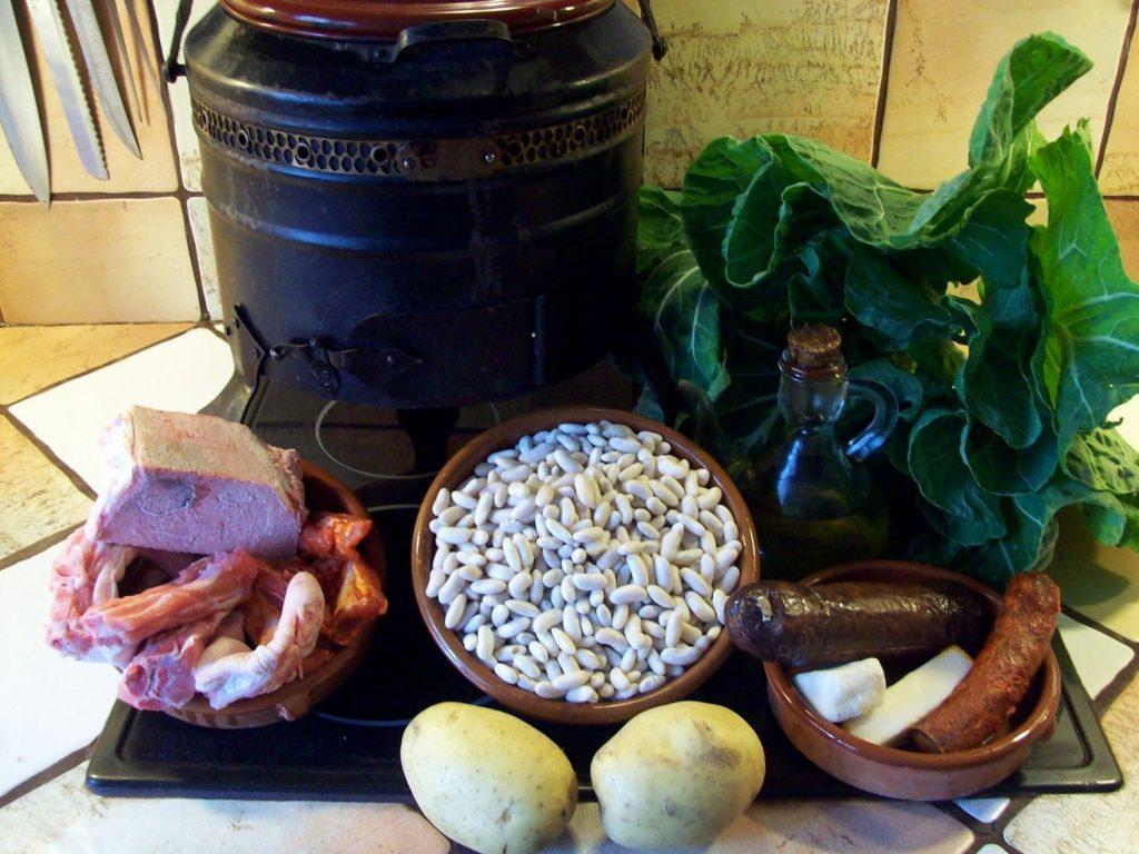 Ingredientes para receta de cocido montañes