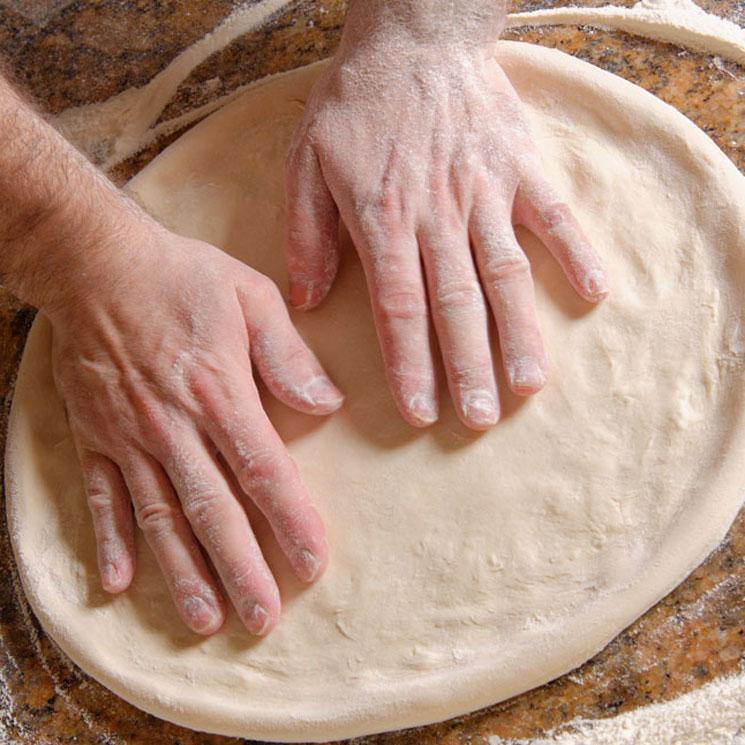Para la masa de la pizza