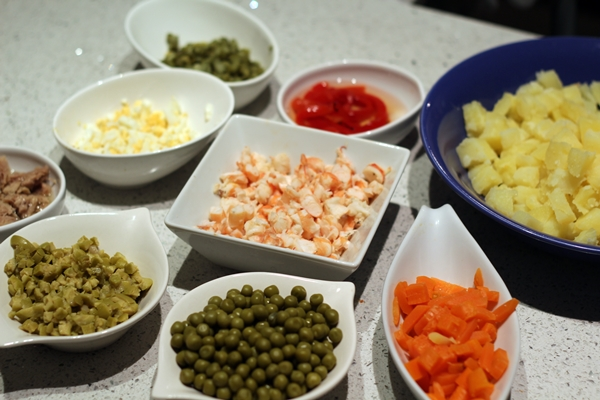 Ingredientes de ensaladilla rusa