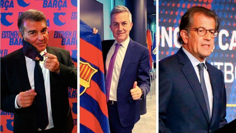 Laporta, Font o Freixa: los ases bajo la manga que ofrece cada candidato a la presidencia del Barcelona