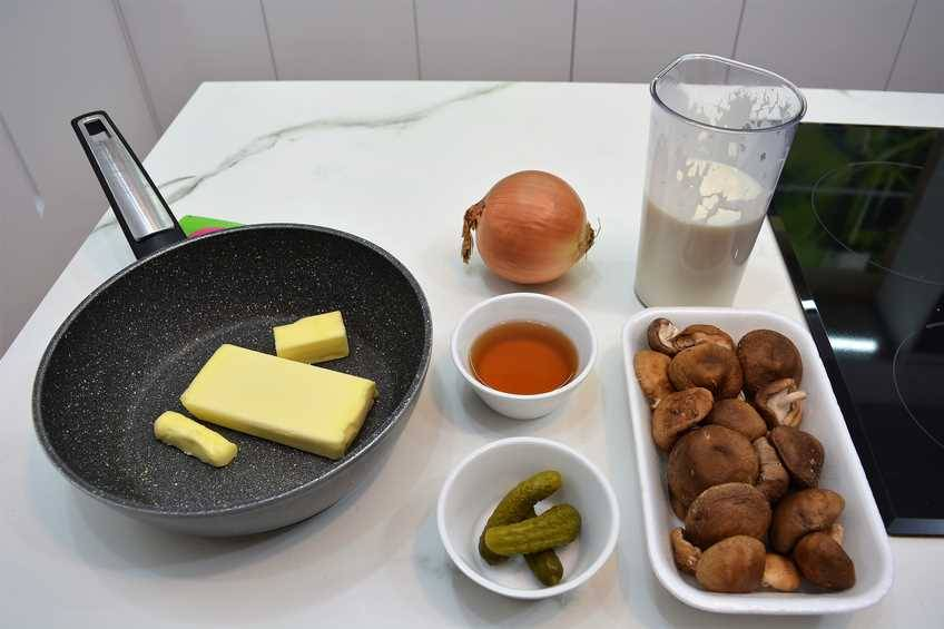 Ingredientes de la salsa strogonoff con carne