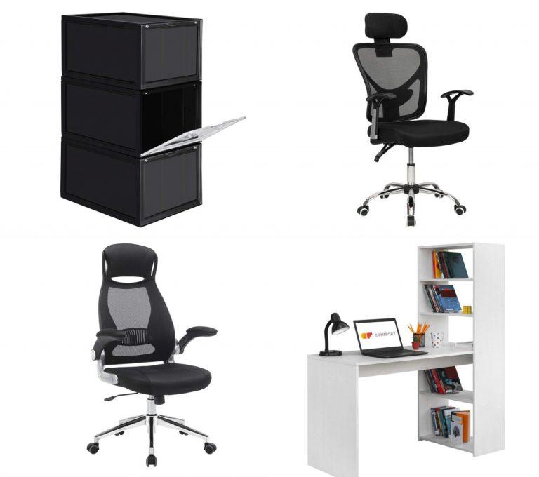Songmics, Comifort y Cashoffice: accesorios y muebles a precios de saldo para montar la oficina en casa