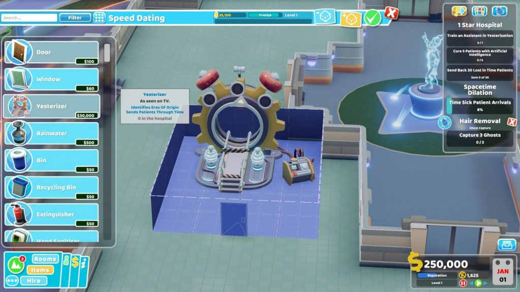 Two Point Hospital: A Stitch in Time – Viajes temporales sin riesgo