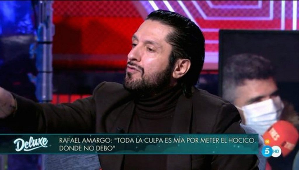 Rafael Amargo, en 'Sálvame Deluxe'.