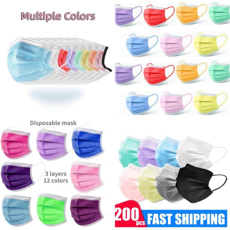 Aliexpress: 8 packs de mascarillas de colores muy económicos de su web