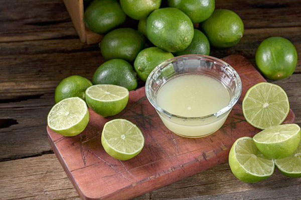 El jugo de limón