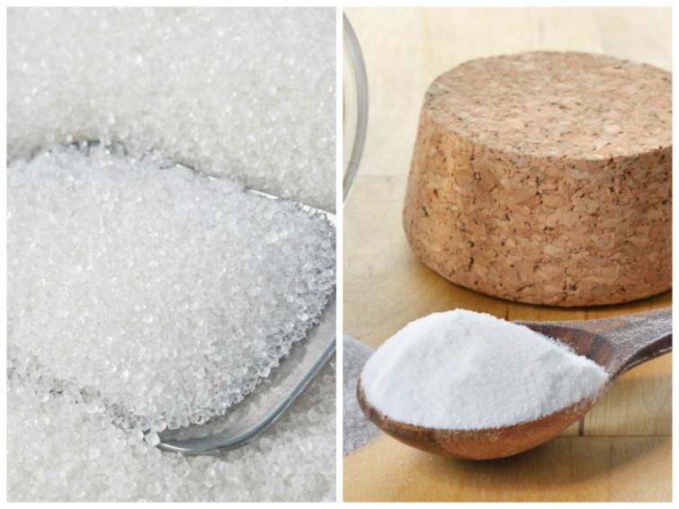 Azúcar y bicarbonato