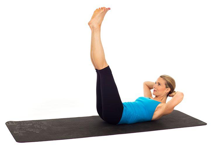 Tercer ejercicio - Elevación de piernas en el suelo