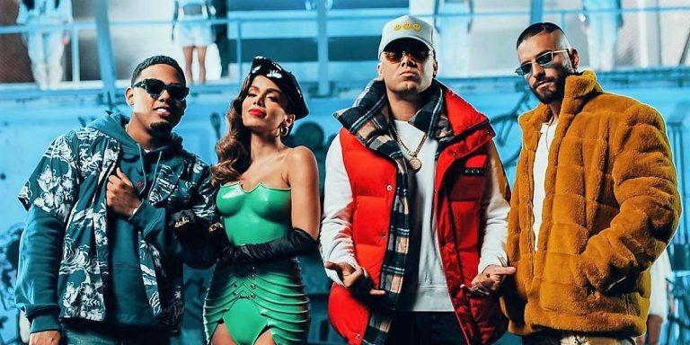 Wisin, Myke Towers, Maluma y Anitta en 'Mi Niña Remix' de Los Legendarios