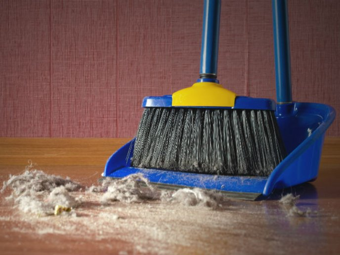 La limpieza es el mejor remedio para el polvo