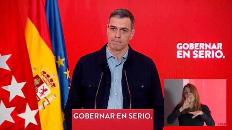 """Sánchez pide el voto para lograr gobierno progresista que vacune """"con seriedad"""" frente a """"ultraderecha"""""""