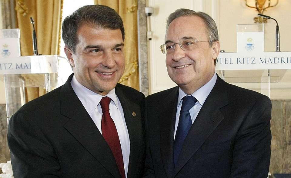 Florentino Pérez y Laporta, dos de los presidentes de los equipos de esta Superliga