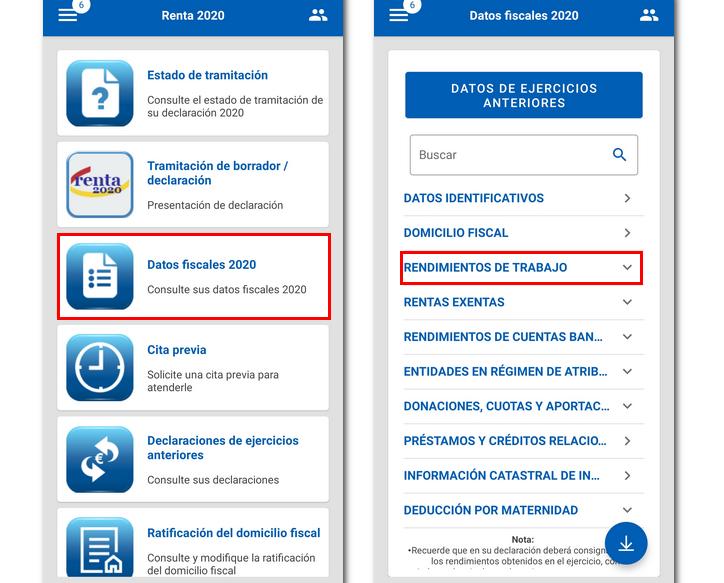 Declaración de renta a través de la app de Hacienda