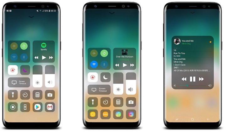 Aspecto de iPhone en Android en cuestión de segundos