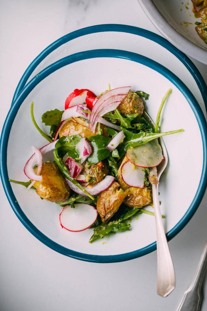 Ingredientes para la ensalada primavera tradicional