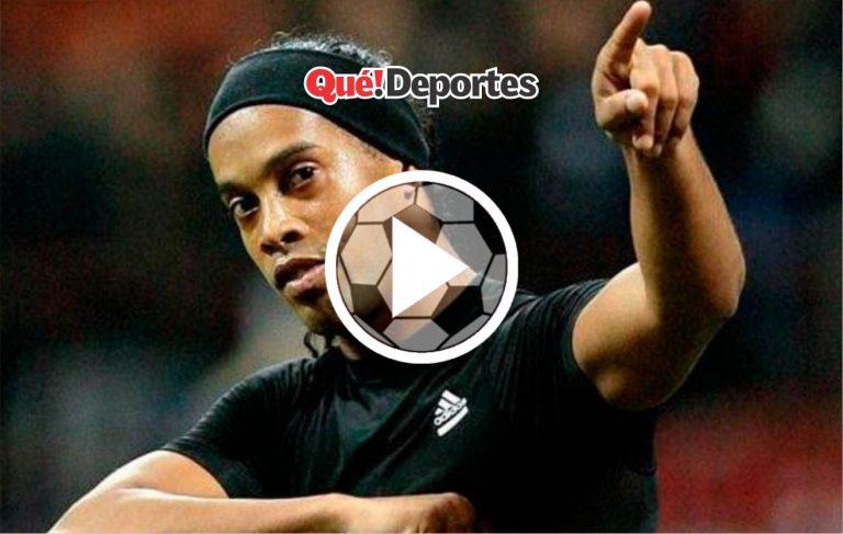 Ronaldinho, usted es diabólico