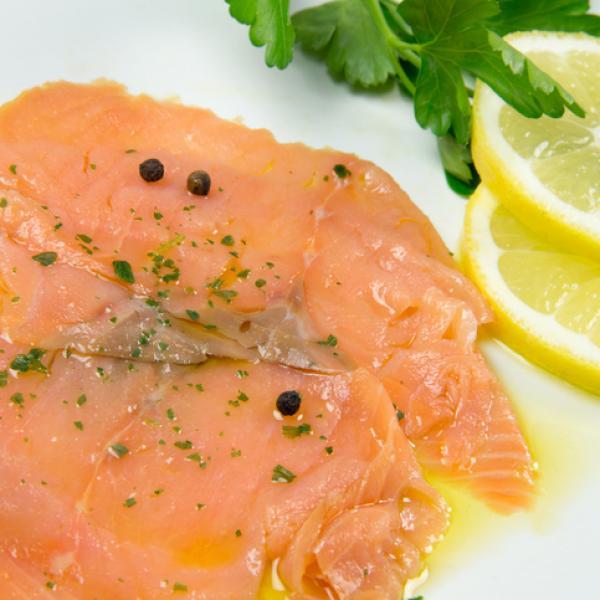 Receta 1 Salmon marinado con azúcar y sal